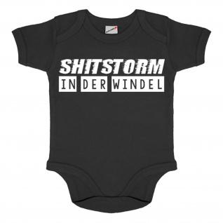 Baby Body Shitstorm in der Windel Hose Strampler Fun Humor Kinder Shit #34547