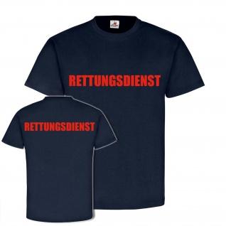 RETTUNGSDIENST Typ2 Sanitäter Hilfe Unfall-Mediziner Doktor Arzt T-Shirt #24362