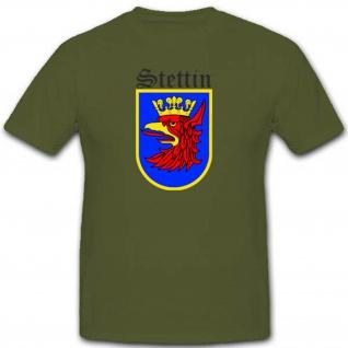 Stettin Wappen Heimat Wk Preußen Deutschland Adler Krone - T Shirt #2828