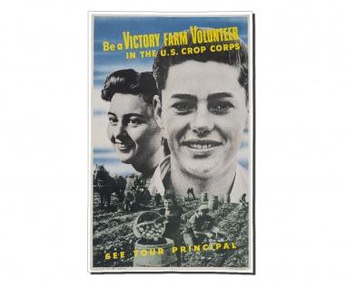 Poster Victory Farm Volunteer Militär US Army Rekruten Amerika ab30x20cm #30405