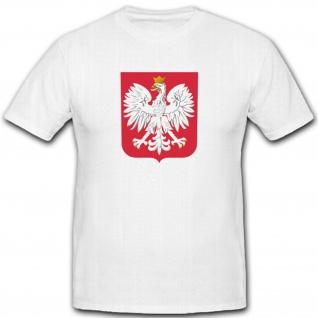 Polen Wappen Adler Emblem Abzeichen Fahne Flagge Polska - T Shirt #2935
