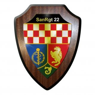 Wappenschild / Wandschild -SanRgt 22 Sanitätsregiment Sanitätsdienst #9827
