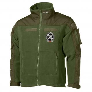 Combat Fleecejacke Instandsetzung Inst Schrauber GRATIS NAME Bundeswehr #30488