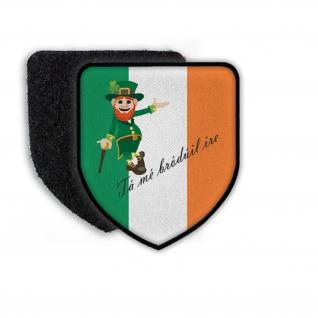 Patch Ich bin stolz Ire zu sein Landesflagge Stolz Irland Kobold Mafia #21925