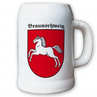 Krug / Bierkrug 0, 5l - Freistaat Braunschweig Weimarer Wappen Abzeichen #9455