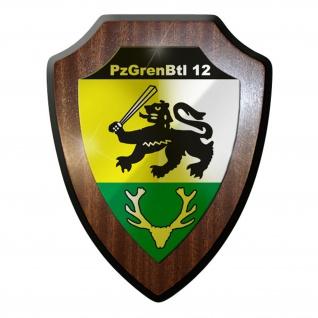 Wappenschild - PzGrenBtl 12 Panzer Grenadier Bataillon Bundeswehr #9358