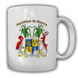 Mauritius Wappen Emblem République de Maurice Kaffee Becher Tasse #13750