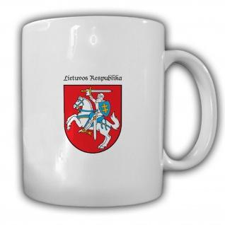Republik Litauen Lietuvos Respublika Wappen Emblem - Tasse #13691