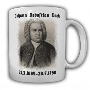 Johann Sebastian Bach Komponist Deutschland Barock Tasse #13706
