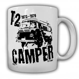 Tasse T2 Camper Bus Bulli Volks-Transporter Wohnwagen Oldtimer Urlaub #21603