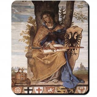 Germania bekrönt Eichenlaub Romantik Reichskrone Göttin Germanen Mauspad #16207