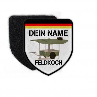 Patch Feldkoch mit deinem Namen personalisiert Bundeswehr Koch Küchenbulle#24639