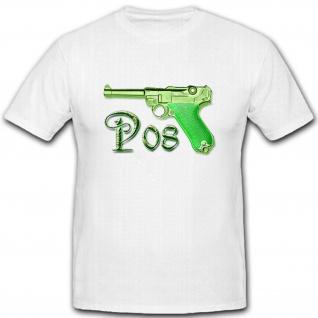 P8 P08 P-08 P 08 Pistole Waffe Bundeswehr Ordonnanzpistole - T Shirt #5359