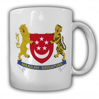 Emblem Wappen Republic of Singapore Kaffee Becher Tasse #13901