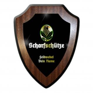 Wappenschild Scharfschütze Personalisiert Wappen Wandschild Bundeswehr #31085
