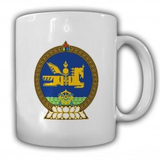Wappen Mongolei Wappen Emblem Mongolischer Staat - Tasse #13808