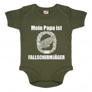 Baby Strampler Mein Papa ist Fallschirmjäger Adler - Babystrampler #18748