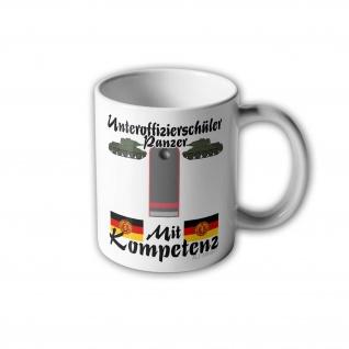 DDR Unteroffizierschüler Tasse der Panzertruppe NVA Panzer #31000