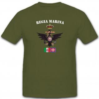 Regia Marina Italien Marine Wappen Adler Abzeichen Emblem - T Shirt #12454