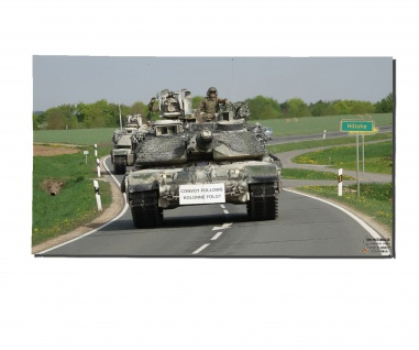 Poster M&N Pictures M1 Abrams Convoy Tank Panzer Plakat Druck ab 30x17cm#30250