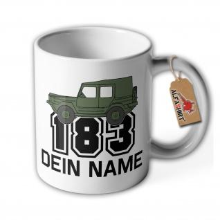 Tasse Iltis 183 Personalisiert Dein Name Geländewage LKW 0, 5 t tmil gl #36172
