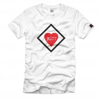 JG77 Herz Ass 2 Jagdgeschwader Flugzeug Einsatz Luftwaffe - T Shirt #742