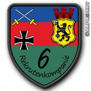 Patch / Aufnäher - Rekrutenkompanie 6 Donnerberg Kaserne Eschweiler Wappen Emblem #6343