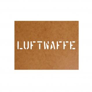 Luftwaffe Schablone Bundeswehr Ölkarton Lackierschablone 2, 5x18cm #15126