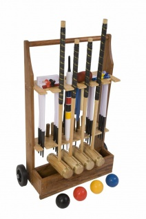 Ultimate Executive Croquet Game, 4 Personen mit Trolley