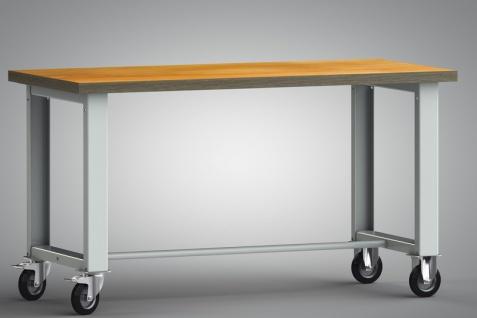Werkbank fahrbar ohne Schiebebügel 1500x700x840 mm zerlegt WS885N-1500M40-X7000