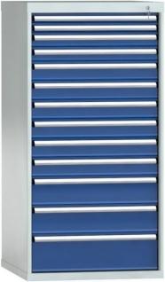Schubladenschrank 1450x725x750 mm HxBxT 13 Auszüge Einfachauszug SGB1450-13EP-001