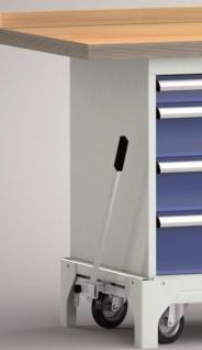 Werkbank fahrbar 1500x700x871 mm LxTxH 8 Schubladen und Hebesystem WP782N-1500M45-E7060 - Vorschau 2