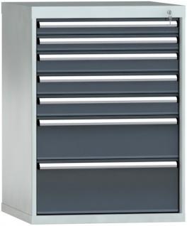 Schubladenschrank 1000x725x750 mm HxBxT mit 7 Auszügen SGB1000-07EP-001