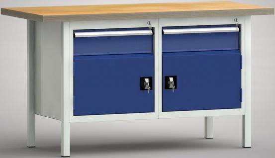 Werkbank 1500x700x840 2 Schubladen 2 Schränke WS177N-1500M40-E1650