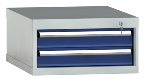 Schubladenschrank SEA 300x572x605 mm HxBxT mit 2 Auszügen Einfachauszug