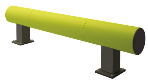 Rammschutzbarriere Rack Einzelplanke Grundplanke 1900 x 320 x 320 mm LxTxH Ha...
