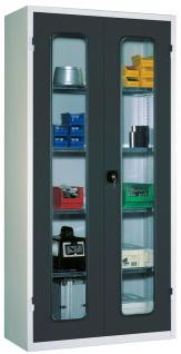 Ordnungsschrank Materialschrank mit Sichtfenster 1950x950x430 HxBxT 7FN-LF195...