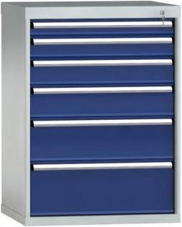 Schubladenschrank 1000x725x605 mm HxBxT mit 6 Auszügen SGA1000-06EP-001