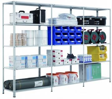 Fachbodenregal Grundregal Schraubsystem MULTIplus250, 2500 x 1000 x 500 mm (H...