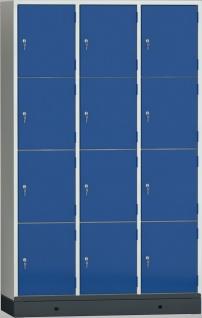 Wertfachschrank Schließfachschrank 1850x1190x500 mm HxBxT 12 Abteile