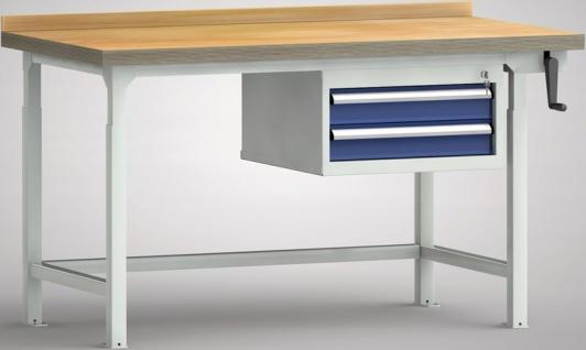 Hydraulikwerkbank höhenverstellbar 1200x800x750-1050 mm LxTxH 2 Schubladen WP...