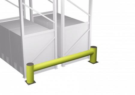 Anfahrschutz Palettenregal Regalendschutz Einzelplanke Rack 1100 x 420 mm LxH