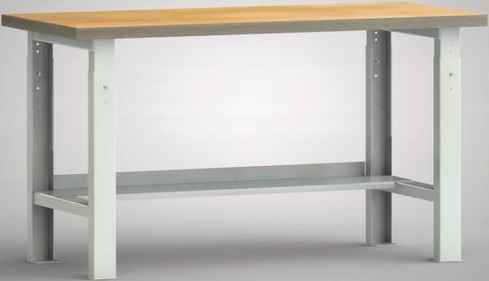 Werkbank höhenverstellbar 1500x700x740-940 mm LxTxH mit Ablageboden WS513V-15...