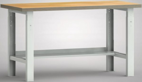 Werkbank höhenverstellbar 1500x700x740-940 mm LxTxH mit Ablageboden WS513V-1500M40-X1582