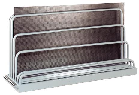 Tafelregal Blechregal bis Tafelgröße 3000x2000mm 5 Fächer