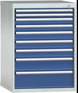 Schubladenschrank 1000 x 725 x 750 mm HxBxT 9 Schubladen Einfachauszug