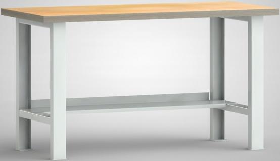Werkbank 1500x700x840 mm LxTxH mit Ablageboden WS503N-1500M40-X1580