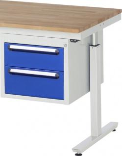 Schubladenblock 2 Schubladen als Unterbaucontainer 425 x 600 x 395 mm LxTxH