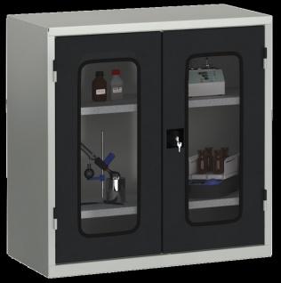 Materialschrank Ordnungsschrank 1000 x 950 x 430 mm mit Acrylglasscheiben