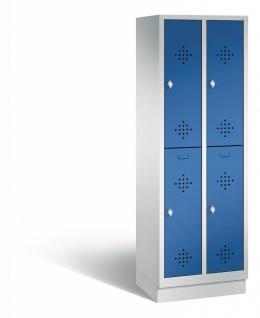 C+P Garderobenschrank Classic, 1800x610x500 mm HxBxT 2 Abteile 300 mm 2 Fächer
